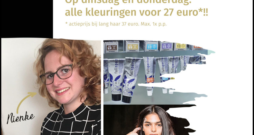 Aanbieding: je haar laten kleuren voor 27 euro